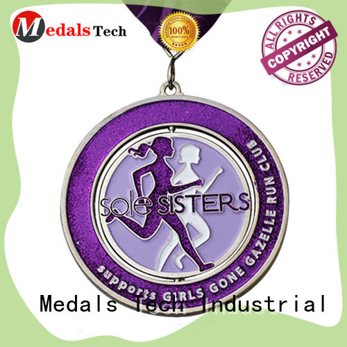 plated metal medal badminton wholesale for man