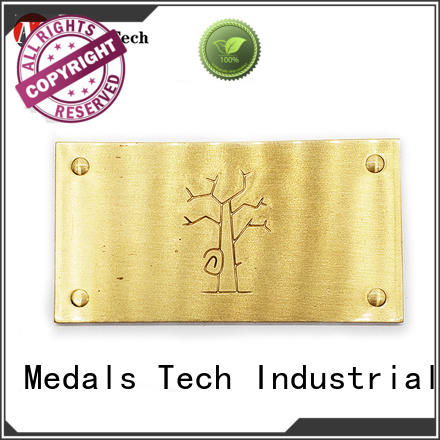 Medals Tech decorative steel name plates design for man
