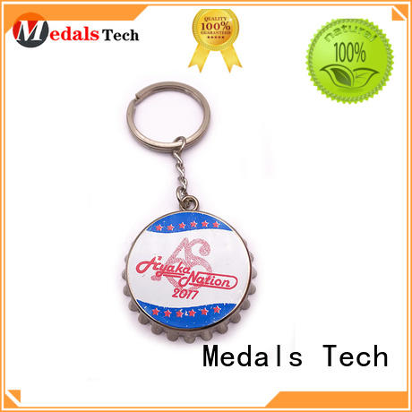 Medals Tech name keychains manufacturer for add on sale