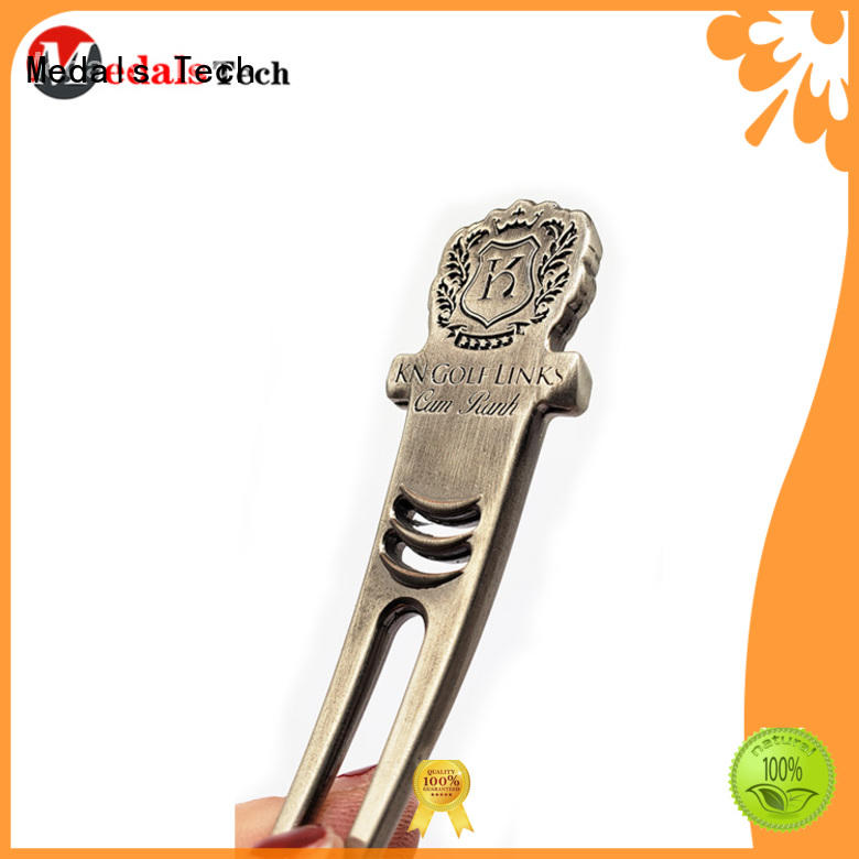 Medals Tech alloy divot tool ball marker with good price for man
