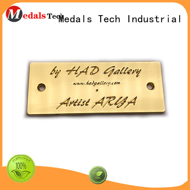 Medals Tech minimum steel name plates with good price for woman