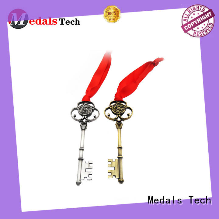 Medals Tech frame leather keychain from China for commercial