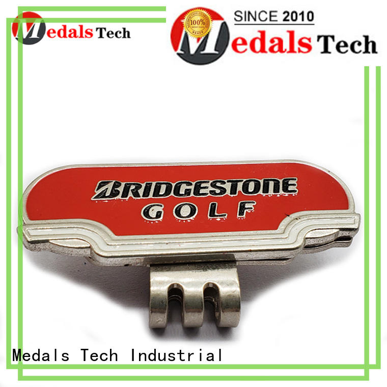 Medals Tech embossed golf hat clip factory for promotion