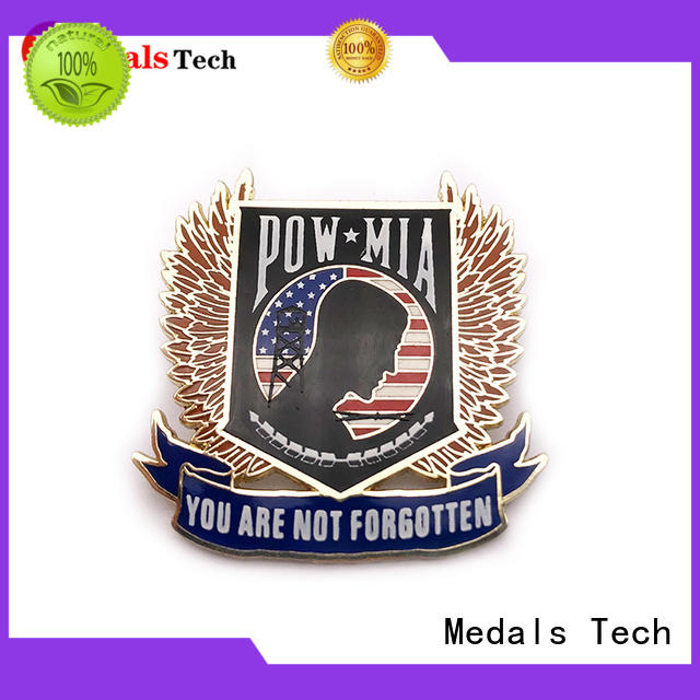 Medals Tech shinny mens suit pins with good price for add on sale