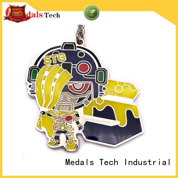 Medals Tech christmas custom logo keychains customized for souvenir