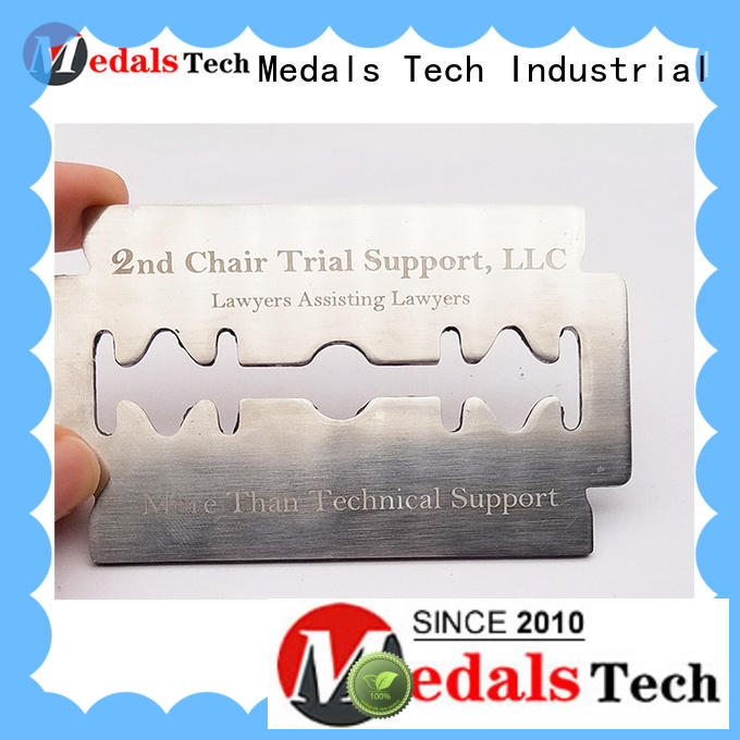Medals Tech silver name plate factory for man
