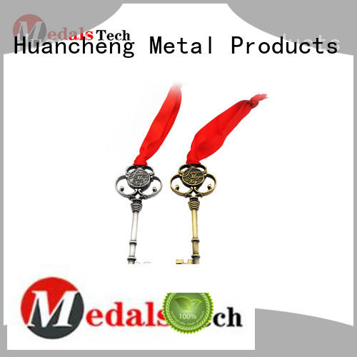 antique shiny name keychains Huancheng Brand