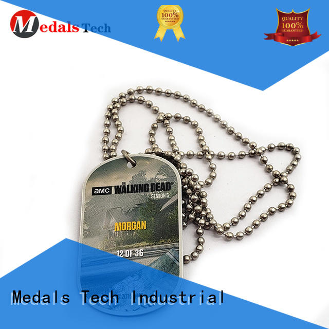 Medals Tech plated plastic dog id tags series for add on sale