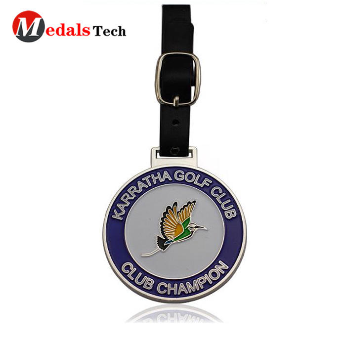 embossed golf bag tag filled directly sale for add on sale-3
