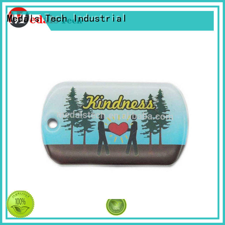 High quality beautiful  epoxy coated sticker letter print dog tag
