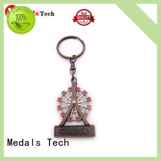 Medals Tech gold metal keychains series for man