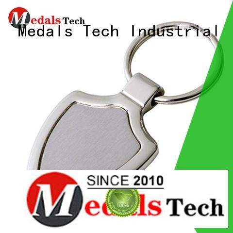 Medals Tech casting leather keychain from China for adults