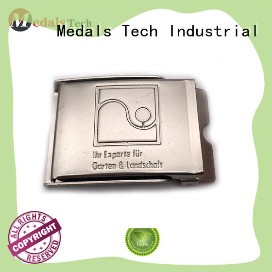 Medals Tech shinny silver belt buckles wholesale for teen