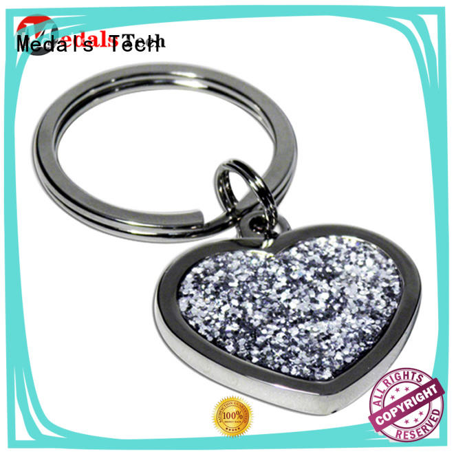 style metal promotional keychains shinny for add on sale Medals Tech