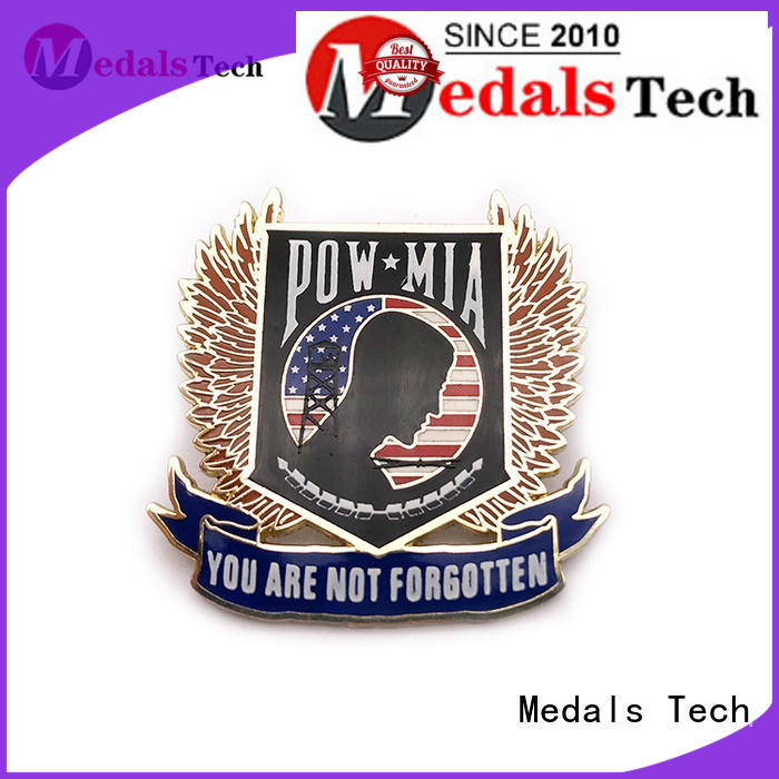Medals Tech silver mens lapel pin factory for woman
