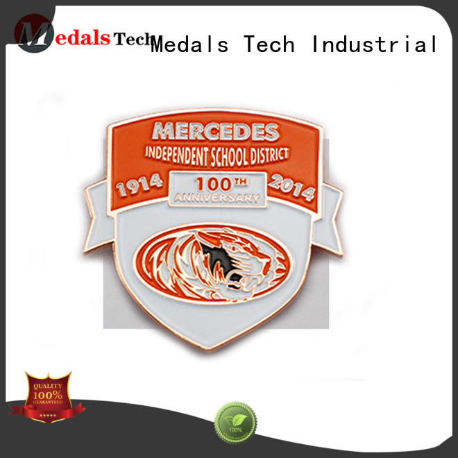 Medals Tech matel quality lapel pins factory for add on sale
