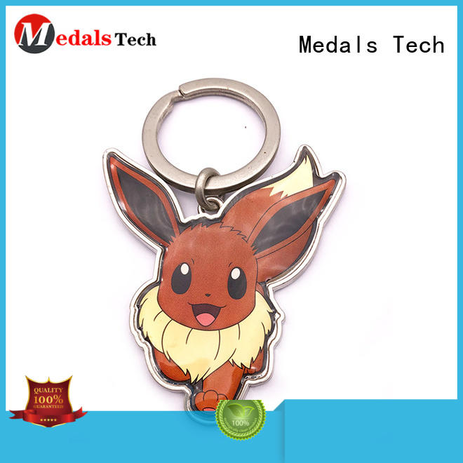 Medals Tech trolley metal key ring directly sale for promotion
