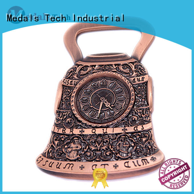 Low price new style bell shape magnet antique bronze bottle opener