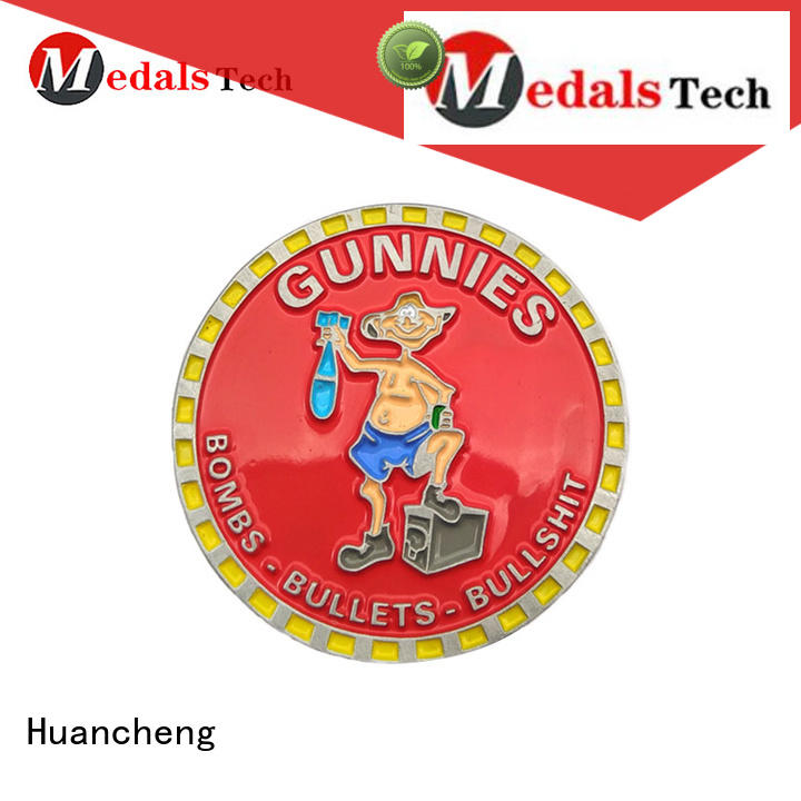 synthetic enamel metal soft enamel Huancheng Brand challenge coin