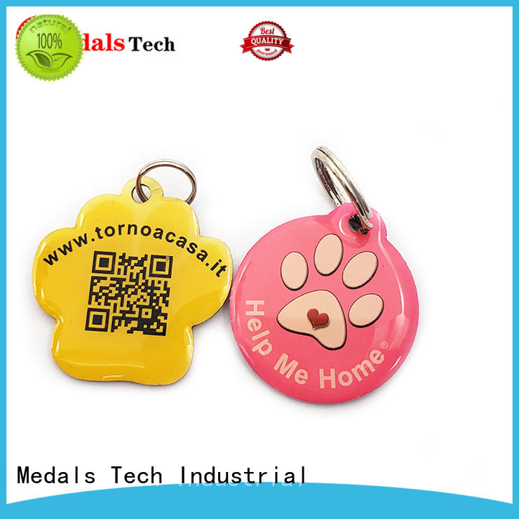 plated cheap dog name tags plated from China for boys