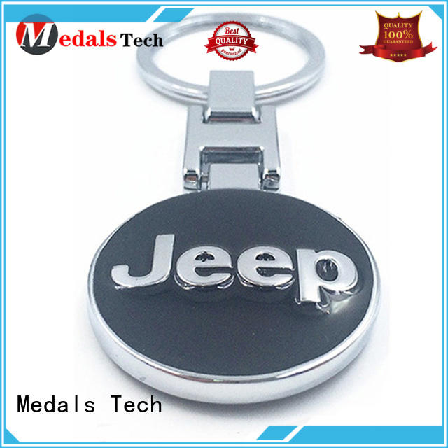 Medals Tech gold leather keychain series for commercial