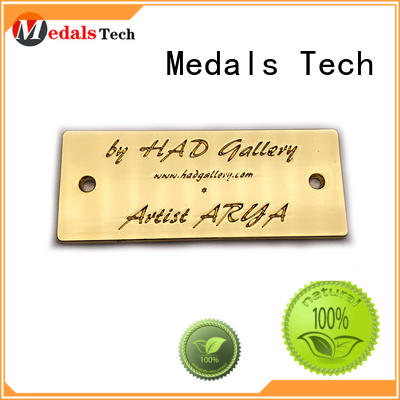 Medals Tech coating custom name plates factory for woman