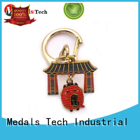 Medals Tech antique leather keychain series for promotion