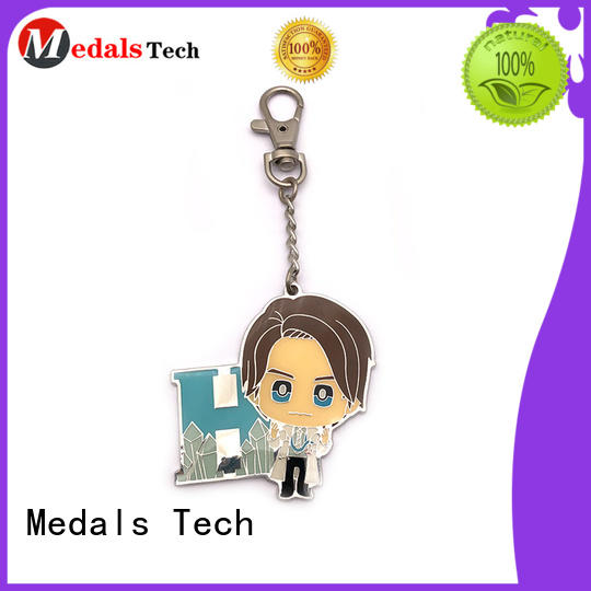 Medals Tech enamel metal key ring customized for woman