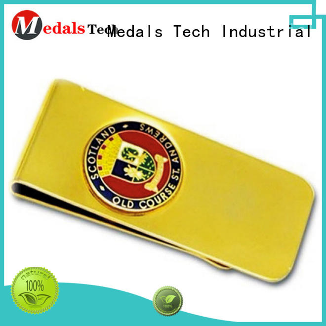 Money clip gift for woman Medals Tech
