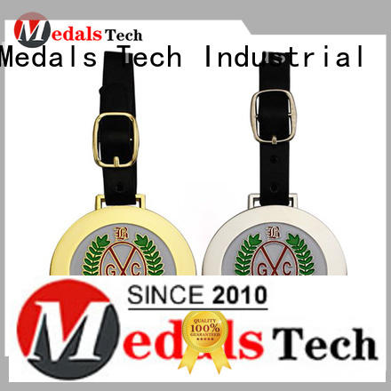 Medals Tech sand cheap golf bag tags design for add on sale