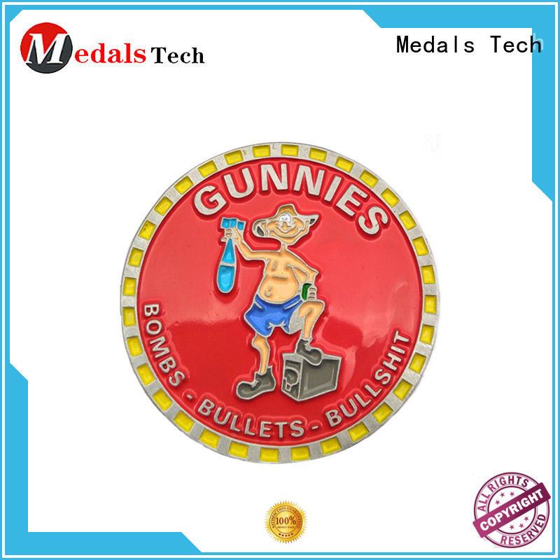 Medals Tech single unique challenge coins wholesale for games