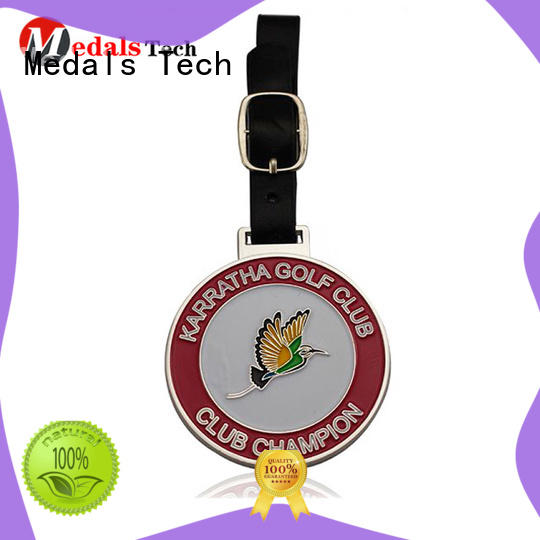 Medals Tech embossed golf bag name tags from China for man