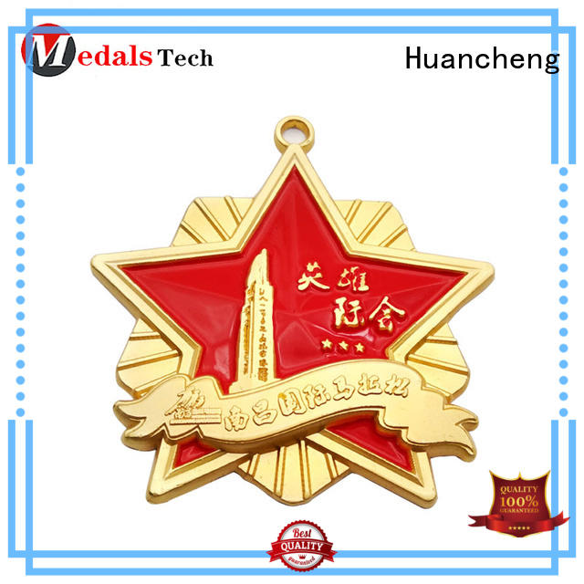 ribbon matte different types of medals Bright Gold sport Huancheng Brand