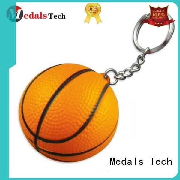 2019 New style custom metal basketball 3d sport keychain