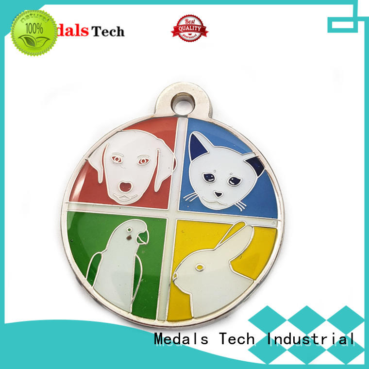 Medals Tech shinny quality dog id tags series for boys