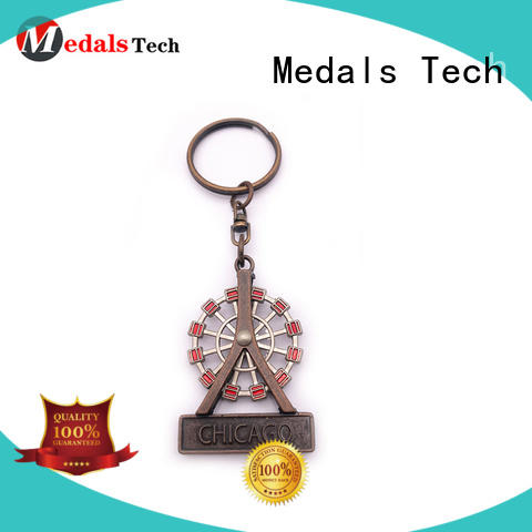 Medals Tech antique metal keychains series for man
