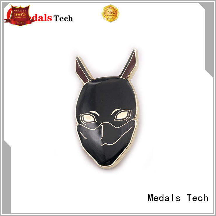 Medals Tech girl custom lapel pins design for adults