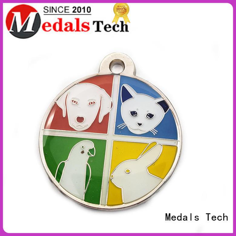 Medals Tech metal custom dog collar tags customized for man