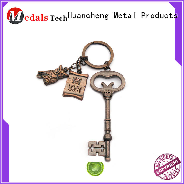 Quality Huancheng Brand silver antique name keychains