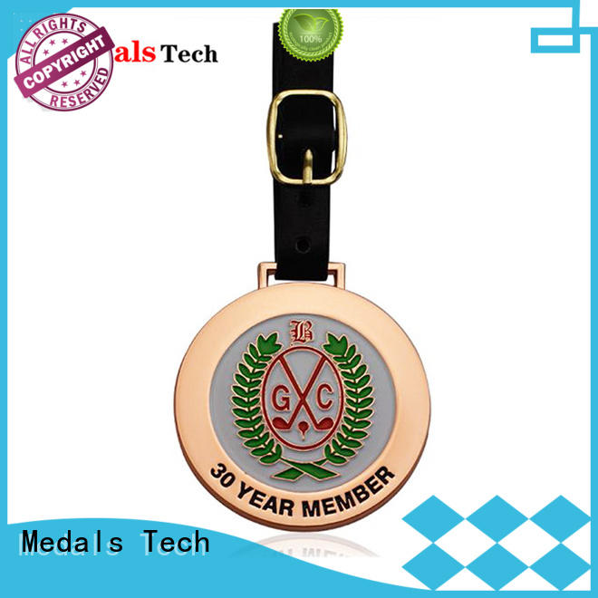 Medals Tech shape custom golf bag tags customized for man