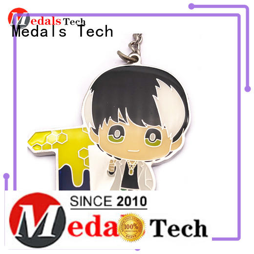Medals Tech key keychain from China for man