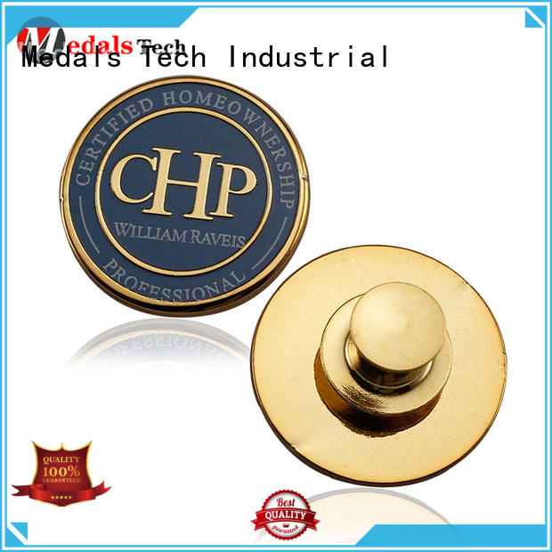 Medals Tech epoxy quality lapel pins design for add on sale