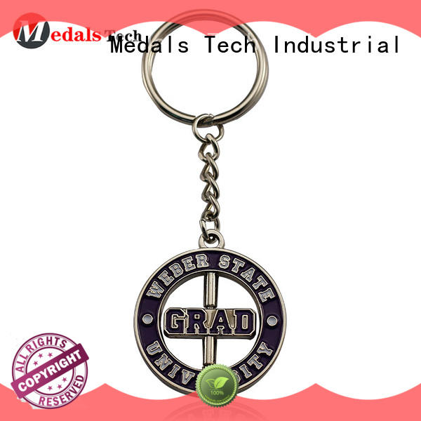 Medals Tech embossed metal keychains customized for man