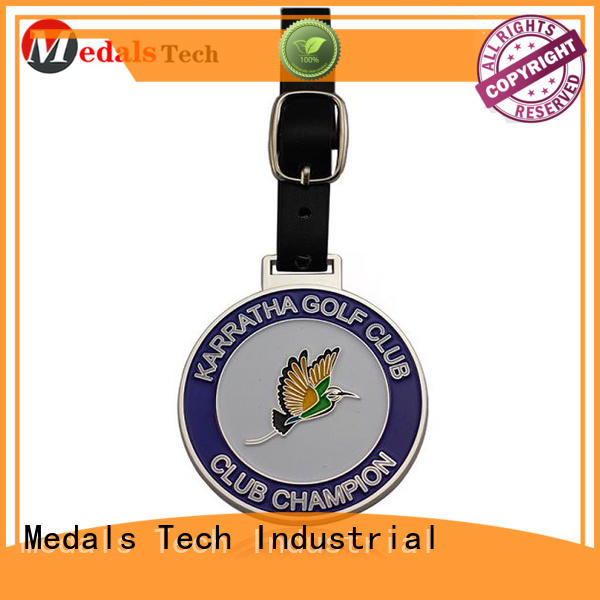 embossed golf bag tag filled directly sale for add on sale