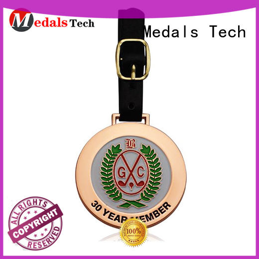 alloy logo golf bag tags sand for man Medals Tech