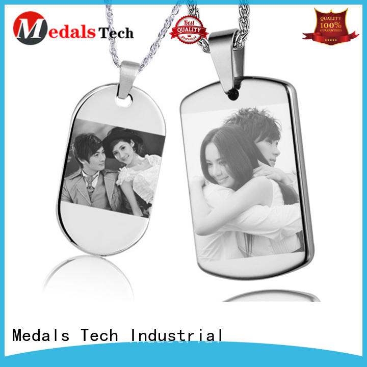 Medals Tech plated personalized dog id tags from China for add on sale