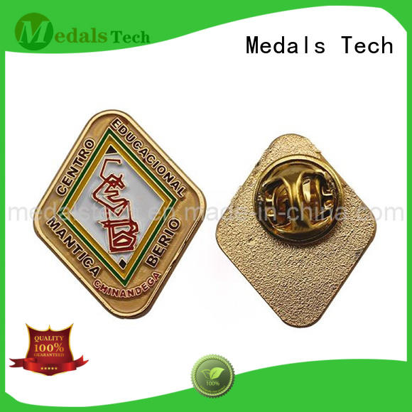 Medals Tech girl custom lapel pins with good price for man