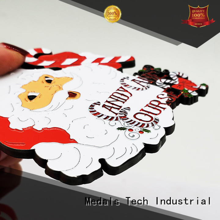 Factory price custom Christmas style smooth finish souvenir gift medal for kids