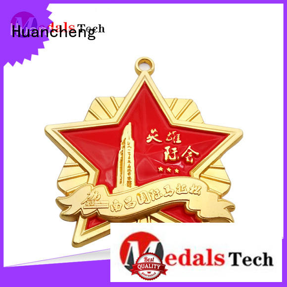 different types of medals matte Bright Gold marathon Huancheng Brand company