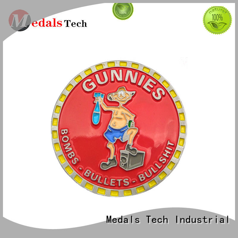 Medals Tech single seal challenge coin factory price for games